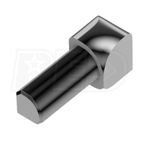 "Schluter RONDEC - 90 Degree Inside Corner - For 1/2"" Thick Tile - Polished Chrome Plated Aluminum"