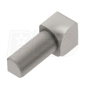 "Schluter RONDEC - 90 Degree Inside Corner - For 5/16"" Thick Tile - Satin Nickel Anodized Aluminum"