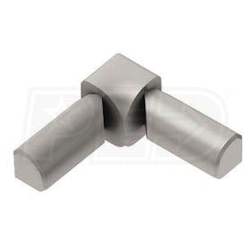"Schluter RONDEC - 90 Degree Double-Leg Inside Corner - For 3/8"" Thick Tile - Satin Nickel Anodized Aluminum"