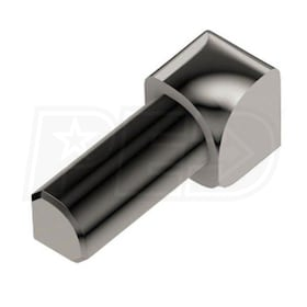 "Schluter RONDEC - 90 Degree Inside Corner - For 3/8"" Thick Tile - Polished Nickel Anodized Aluminum"