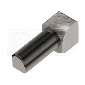 "Schluter RONDEC - 90 Degree Inside Corner - For 5/16"" Thick Tile - Brushed Nickel Anodized Aluminum"
