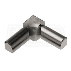 "Schluter RONDEC - 90 Degree Double-Leg Inside Corner - For 3/8"" Thick Tile - Brushed Nickel Anodized Aluminum"
