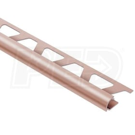 "Schluter RONDEC - Edging Profile - For 5/16"" Thick Tile - 8' 2-1/2"" Length - Satin Copper Anodized Aluminum"