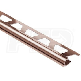 "Schluter RONDEC - Edging Profile - For 5/16"" Thick Tile - 8' 2-1/2"" Length - Polished Copper Anodized Aluminum"