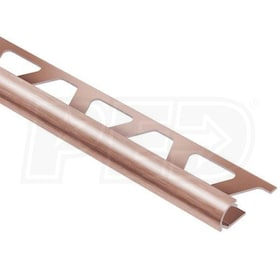 "Schluter RONDEC - Edging Profile - For 3/8"" Thick Tile - 8' 2-1/2"" Length - Brushed Copper Anodized Aluminum"