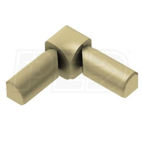 "Schluter RONDEC - 90 Degree Double-Leg Inside Corner - For 1/2"" Thick Tile - Satin Brass Anodized Aluminum"