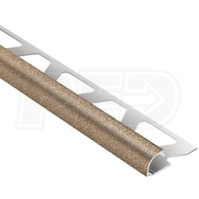 "Schluter RONDEC - Edging Profile - For 5/16"" Thick Tile - 8' 2-1/2"" Length - Tuscan Beige Coated Aluminum"