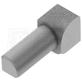 "Schluter RONDEC - 90 Degree Inside Corner - For 3/8"" Thick Tile - Tuscan Pewter Coated Aluminum"