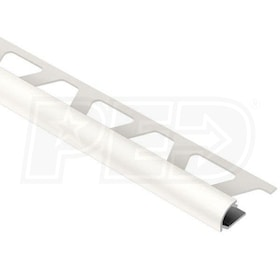 "Schluter RONDEC - Edging Profile - For 1/2"" Thick Tile - 8' 2-1/2"" Length - White Coated Aluminum"