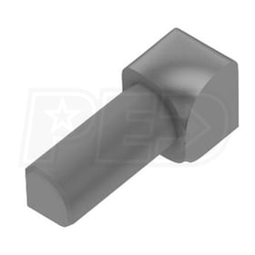 "Schluter RONDEC - 90 Degree Inside Corner - For 1/4"" Thick Tile - Grey Coated Aluminum"