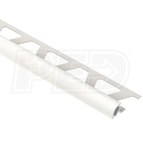 "Schluter RONDEC - Edging Profile - For 3/8"" Thick Tile - 8' 2-1/2"" Length - White Coated PVC"
