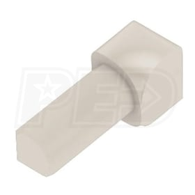 "Schluter RONDEC - 90 Degree Inside Corner - For 3/8"" Thick Tile - Sand Pebble Coated PVC"
