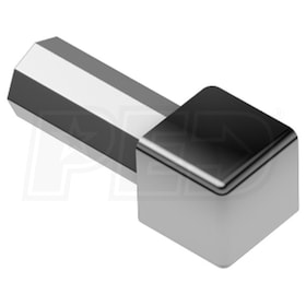 "Schluter QUADEC - Inside/Outside Corner - For 5/16"" Thick Tile - Stainless Steel"