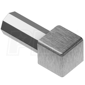 "Schluter QUADEC - Inside/Outside Corner - For 1/4"" Thick Tile - Brushed Stainless Steel"