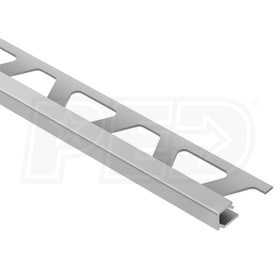 "Schluter QUADEC - Edging Profile - For 1/2"" Thick Tile - 8' 2-1/2"" Length - Satin Anodized Aluminum"