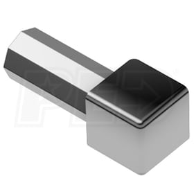 "Schluter QUADEC - Inside/Outside Corner - For 1/4"" Thick Tile - Polished Chrome Anodized Aluminum"