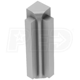 "Schluter RONDEC-STEP - 90 Degree Inside Corner - For 5/16"" Thick Tile - 1-1/2"" Face Height - Satin Anodized Aluminum"