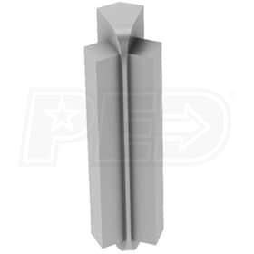 "Schluter RONDEC-STEP - 135 Degree Inside Corner - For 5/16"" Thick Tile - 1-1/2"" Face Height - Satin Anodized Aluminum"
