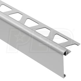 "Schluter RONDEC-STEP - Stair-Nosing Profile - For 3/8"" Thick Tile - 2-1/4"" Face Height - 8' 2-1/2"" Length - Satin Anodized Aluminum"