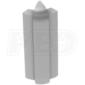 "Schluter RONDEC-STEP - 135 Degree Outside Corner - For 3/8"" Thick Tile - 2-1/4"" Face Height - Satin Anodized Aluminum"