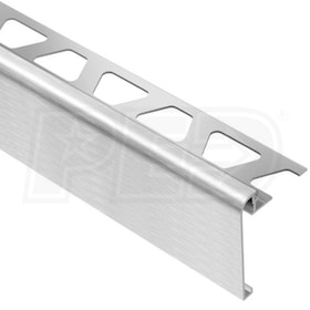 "Schluter RONDEC-STEP - Stair-Nosing Profile - For 5/16"" Thick Tile - 1-1/2"" Face Height - 8' 2-1/2"" Length"