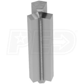 "Schluter RONDEC-STEP - 135 Degree Inside Corner - For 3/8"" Thick Tile - 1-1/2"" Face Height - Brushed Chrome Anodized Aluminum"