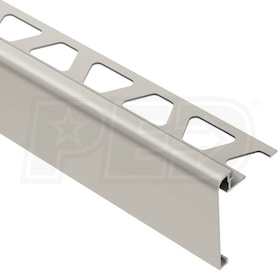 "Schluter RONDEC-STEP - Stair-Nosing Profile - For 1/2"" Thick Tile - 1-1/2"" Face Height - 8' 2-1/2"" Length"