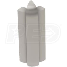"Schluter RONDEC-STEP - 135 Degree Outside Corner - For 3/8"" Thick Tile - 2-1/4"" Face Height - Satin Nickel Anodized Aluminum"
