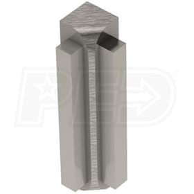 "Schluter RONDEC-STEP - 90 Degree Inside Corner - For 3/8"" Thick Tile - 1-1/2"" Face Height - Brushed Nickel Anodized Aluminum"