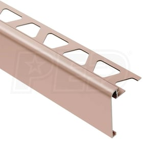 "Schluter RONDEC-STEP - Stair-Nosing Profile - For 5/16"" Thick Tile - 2-1/4"" Face Height - 8' 2-1/2"" Length"