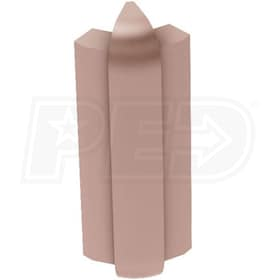 "Schluter RONDEC-STEP - 135 Degree Outside Corner - For 1/2"" Thick Tile - 2-1/4"" Face Height - Satin Bronze Anodized Aluminum"