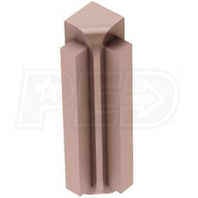 "Schluter RONDEC-STEP - 90 Degree Inside Corner - For 5/16"" Thick Tile - 2-1/4"" Face Height - Satin Copper Anodized Aluminum"