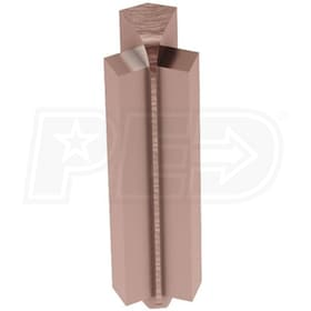 "Schluter RONDEC-STEP - 135 Degree Inside Corner - For 3/8"" Thick Tile - 1-1/2"" Face Height - Brushed Bronze Anodized Aluminum"
