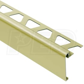 "Schluter  RONDEC-STEP - Stair-Nosing Profile - For 1/2"" Thick Tile - 2-1/4"" Height - 8' 2-1/2"" Length - Satin Brass Anodized Aluminum"