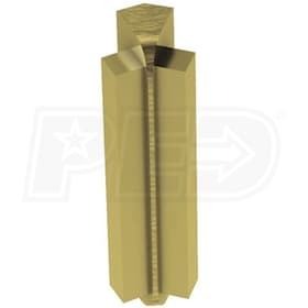 "Schluter RONDEC-STEP - 135 Degree Inside Corner - For 5/16"" Thick Tile - 2-1/4"" Face Height - Brushed Brass Anodized Aluminum"