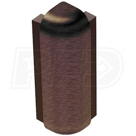 "Schluter RONDEC-STEP - 90 Degree Outside Corner - For 1/2"" Thick Tile - 1-1/2"" Face Height - Antique Bronze Anodized Aluminum"