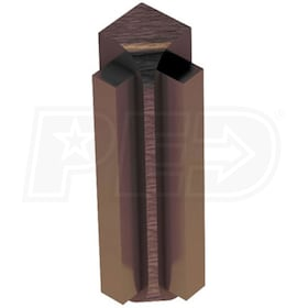 "Schluter RONDEC-STEP - 90 Degree Inside Corner - For 1/2"" Thick Tile - 1-1/2"" Face Height - Antique Bronze Anodized Aluminum"