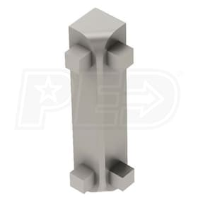 "Schluter RONDEC-CT - 90 Degree Inside Corner - For 1/2"" Thick Tile - Satin Nickel Anodized Aluminum"