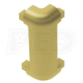 "Schluter RONDEC-CT - 90 Degree Outside Corner - For 1/2"" Thick Tile - Satin Brass Anodized Aluminum"