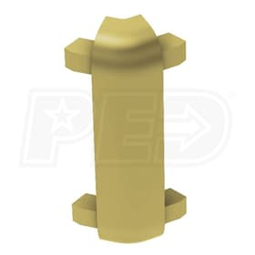 "Schluter RONDEC-CT - 135 Degree Outside Corner - For 1/2"" Thick Tile - Satin Brass Anodized Aluminum"