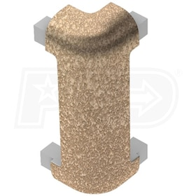 "Schluter RONDEC-CT - 90 Degree Outside Corner - For 3/8"" Thick Tile - Tuscan Beige Coated Aluminum"