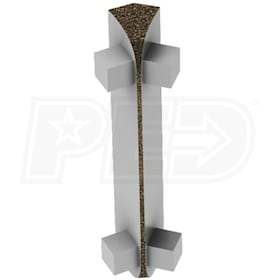 "Schluter RONDEC-CT - 135 Degree Inside Corner - For 1/2"" Thick Tile - Tuscan Bronze Coated Aluminum"