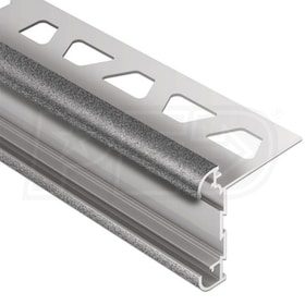 "Schluter RONDEC-CT - Double-Rail Edging Profile - For 1/2"" Thick Tile - 8' 2-1/2"" Length - Tuscan Pewter Coated Aluminum"