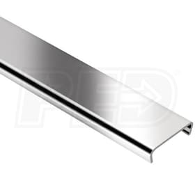 "Schluter DESIGNLINE - Decorative Border Profile - For 1/4"" Thick Tile - 8' 2-1/2"" Length - Stainless Steel"