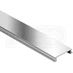 "Schluter DESIGNLINE - Decorative Border Profile - For 1/4"" Thick Tile - 8' 2-1/2"" Length - Polished Chrome Anodized Aluminum"