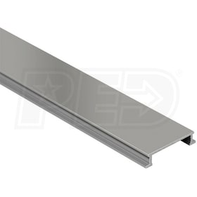 "Schluter DESIGNLINE - Decorative Border Profile - For 1/4"" Thick Tile - 8' 2-1/2"" Length - Satin Nickel Anodized Aluminum"