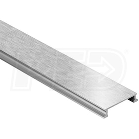 "Schluter DESIGNLINE - Decorative Border Profile - For 1/4"" Thick Tile - 8' 2-1/2"" Length - Brushed Nickel Anodized Aluminum"