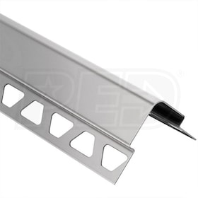 "Schluter ECK-E - Edging Profile - For 5/16"" Thick Tile - 8' 2-1/2"" Length - Brushed Stainless Steel"