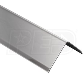"Schluter ECK-K - Edging Profile - 2"" Edge Width - 8' 2-1/2"" Length - Brushed Stainless Steel"