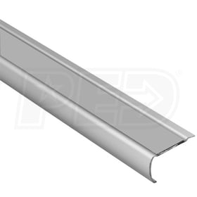 "Schluter TREP-G-S - Stair Nosing Profile - For 9/16"" Thick Tile - 4' 11"" Length - Brushed Stainless Steel w/ Transparent Tread"